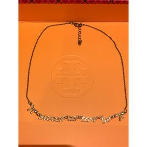 """""""Sweet as can be"""" gold necklace"""